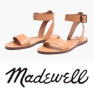 NWT: MADEWELL BOARDWALK ANKLE-STRAP SANDAL